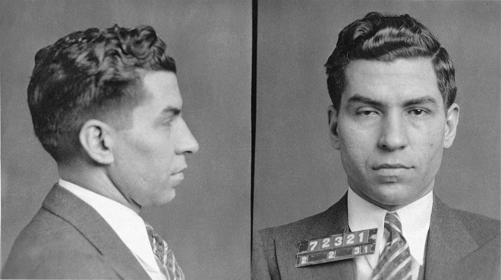 Lucky Luciano mugshot racketeering