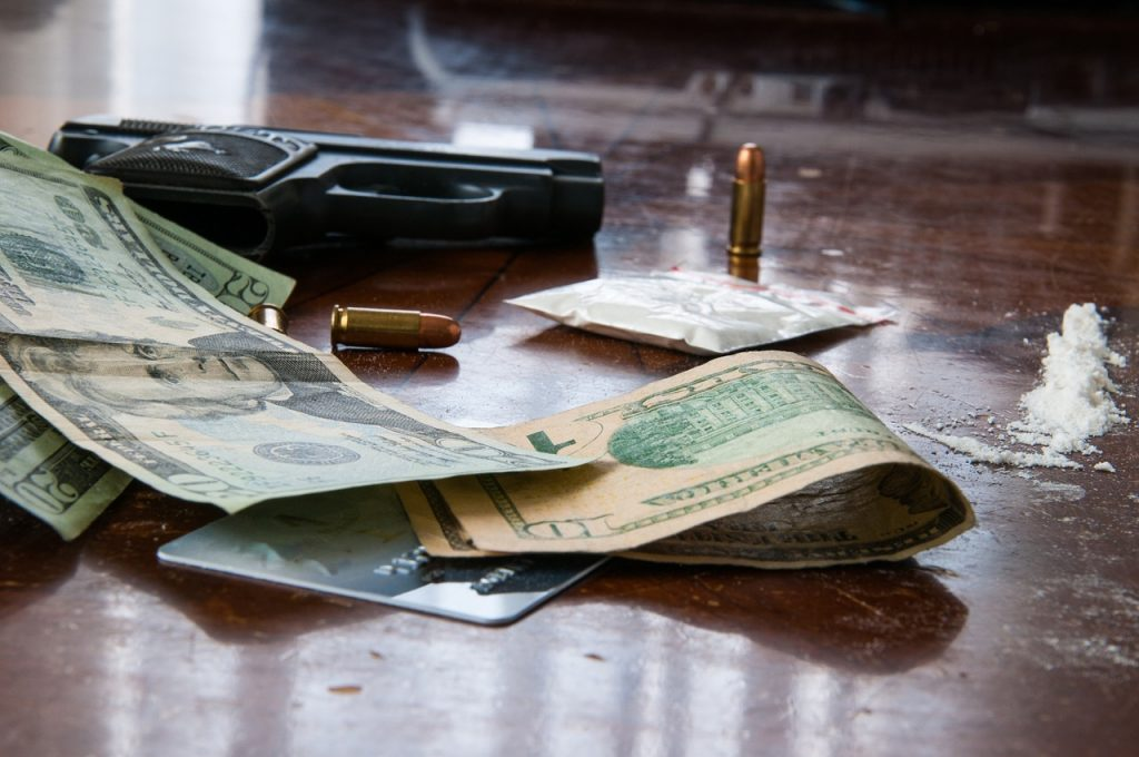 Money, Gun, Crime, Drugs, Racketeering