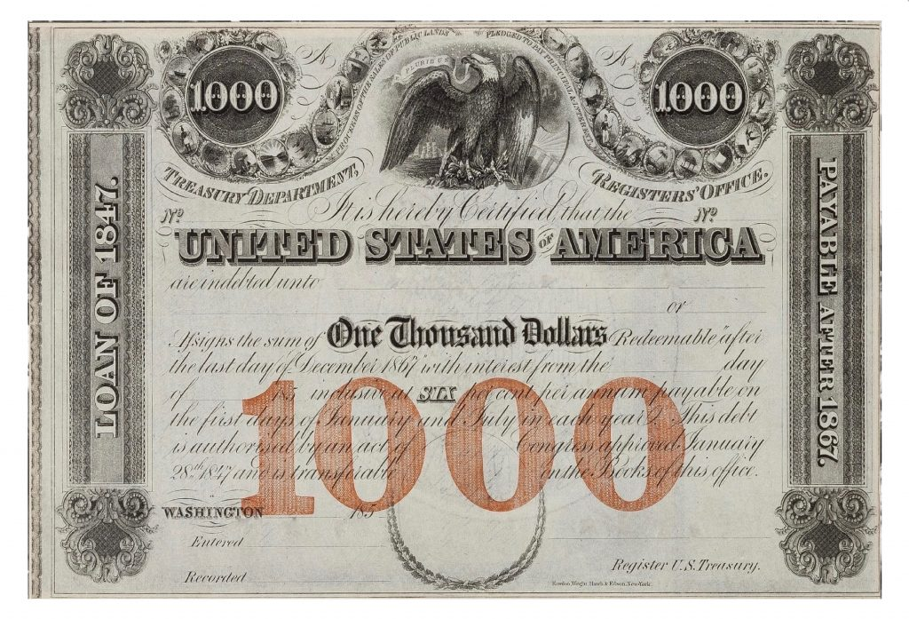 Old Savings Bonds, 1000 Dollars, Finance, Money, Investment