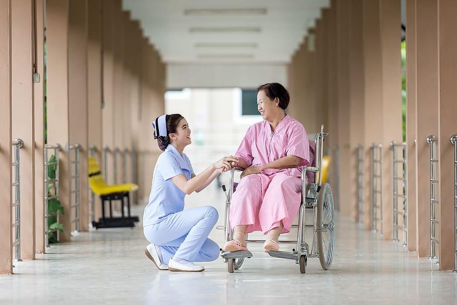 Health Insurance, Hospital, Patient, Nurse, Medical Care, Wheelchair, Coinsurance