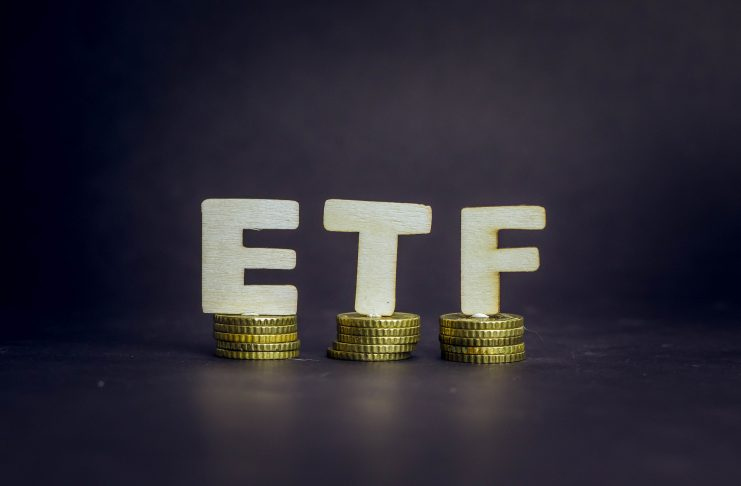 Exchange Traded Fund, ETF, Golden Coins, Finance, Best ETFs