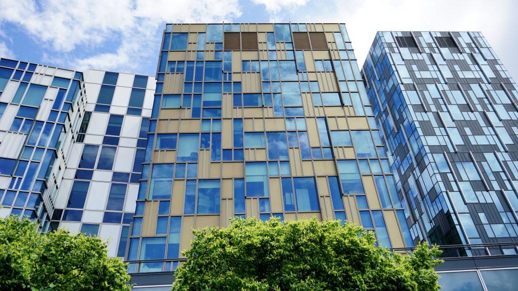Blue, Modern, Office, Glass Building, Architecture, Finance