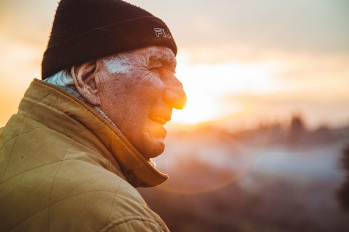 Old Man, Sunset, Retirement Savings, Money, Finance