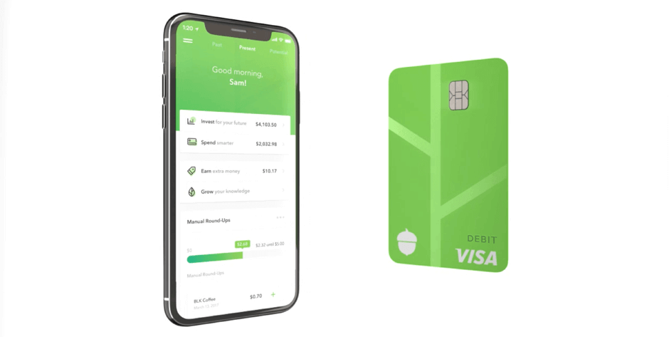 Acorns, Visa Debit, Best Investment Apps
